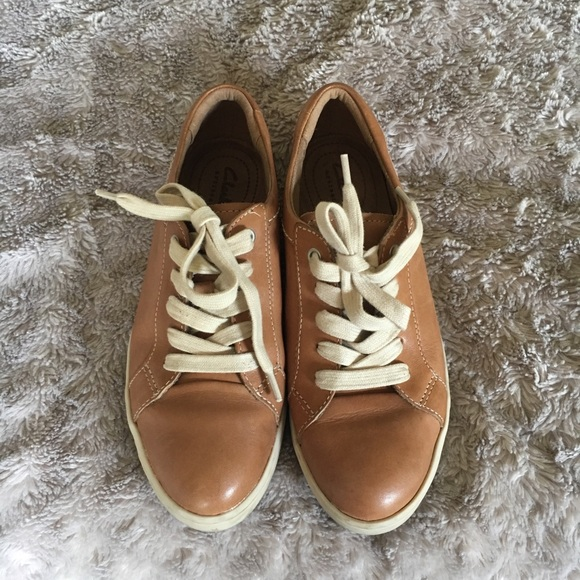 Clarks Shoes   Clark Leather Sneakers